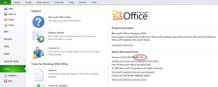 office 2010 standard product id