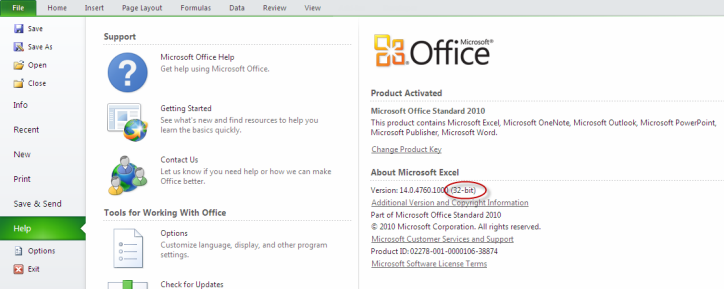 download excel 2010 product key